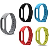 Rapidotzz Pack of 5 Straps/Belts Compatible only for Xiaomi MI Band 2   Mi2