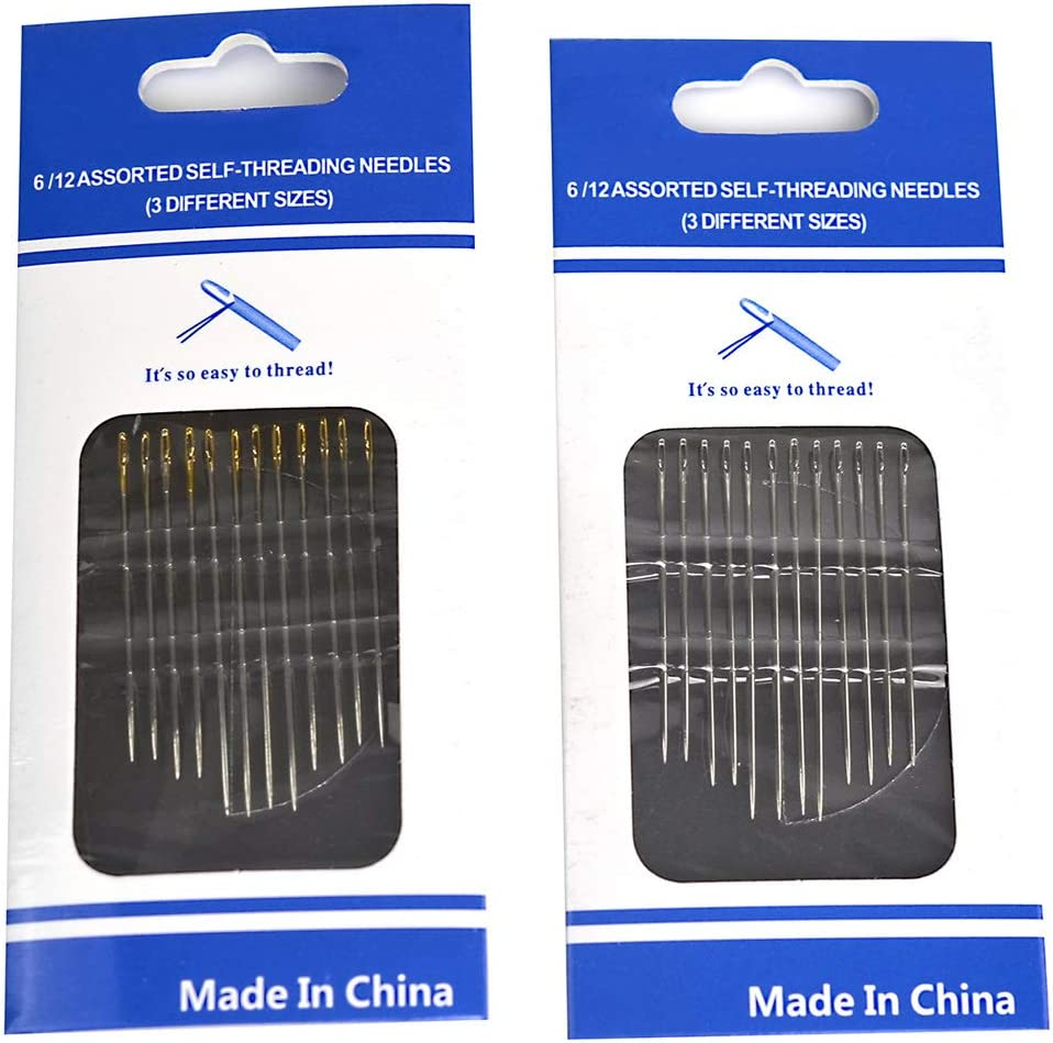 Baifeng Self-Threading Needles Set Side Opening Hand Sewing Home Household Tools New