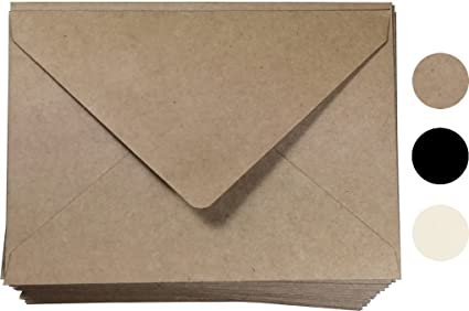 amazon com kraft invitation envelope a7 size 100 pcs by secret