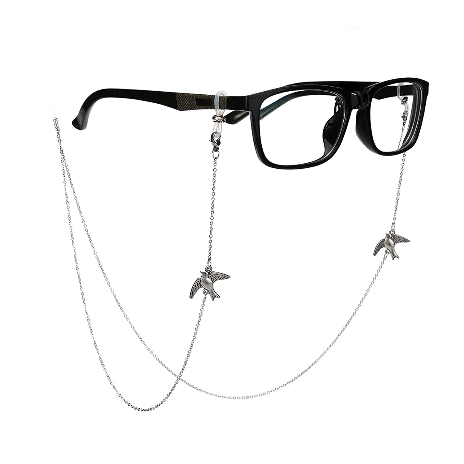 91dcbb77617 Tinksky Bronze Glasses Chain with Bird Eyeglass Cord Strap Sunglass Holder  Lanyard Spectacles Holder Sunglasses Neck