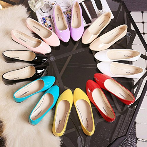 Comfort Transer on Loafers Slip Shoes Casual Colorful Leisure Ladies Work Lazy Pink Shoes Flats Women 8r08q