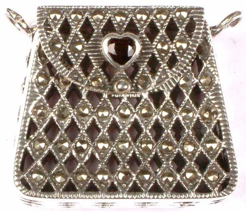 Purse with Flap - Sterling Silver