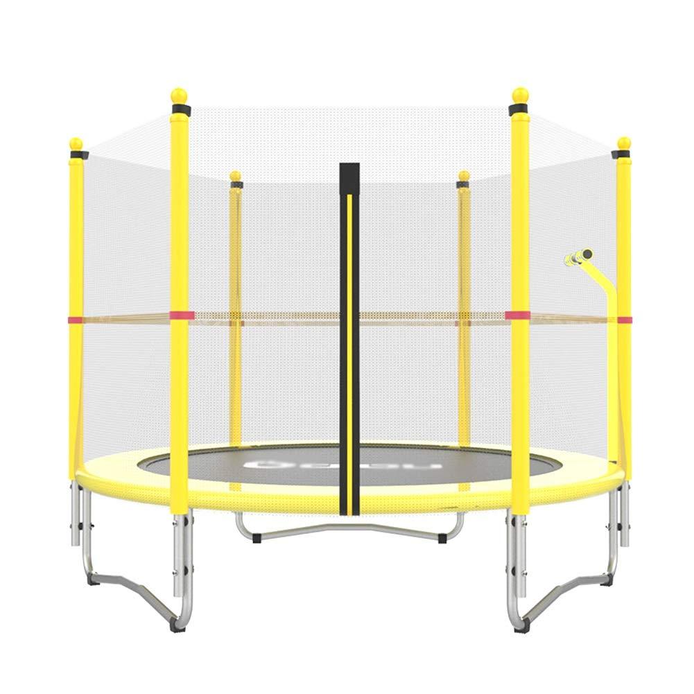 Tragbare Trampoline mit Handlauf Jogging Fitness für Kinder Erwachsene - Max Load 300lbs, Gelbe Übung Ausrüstung