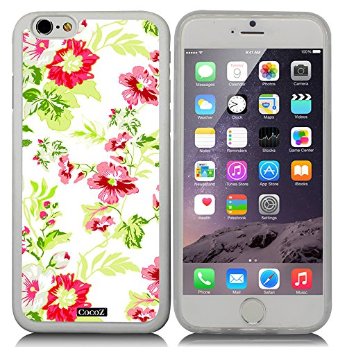 CocoZ® New Apple iPhone 6 s 4.7-inch Case Beautiful flower pattern TPU Material Case (Transparent TPU & Beautiful flower - View Mall Pacific