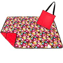 Roebury Picnic Blanket & Beach Blanket - Large Oversized Water-Resistant Sandproof Mat for Outdoor Travel or Camping Folds into a compact Tote Bag