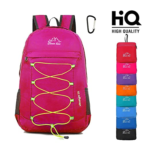 4dd31b574d Lightweight Packable Hiking Backpack Foldable Durable Travel Daypack Little  Backpack Handy Camping Outdoor Backpack 25L Fuchsia