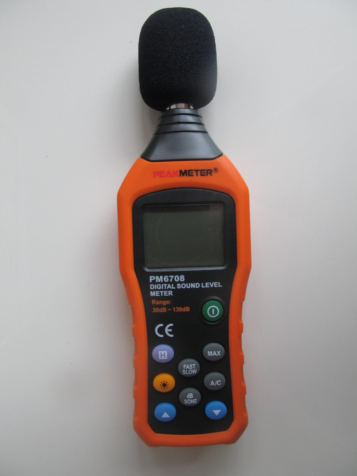 PEAKMETER MS6708 Digital Sound Level Meter Noise Monitor Measuring 30-130 USHE