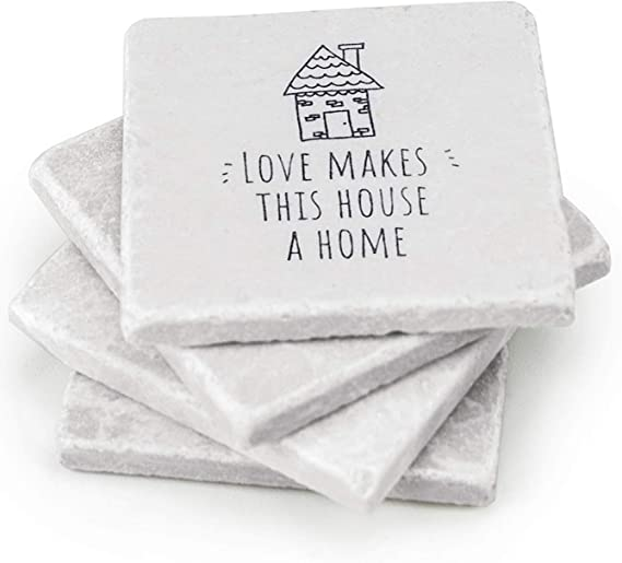 green coasters Housewarming Herb Coasters cloth coaster set Gift for her hostess gift Mother/'s day gift Set of 4 Coasters