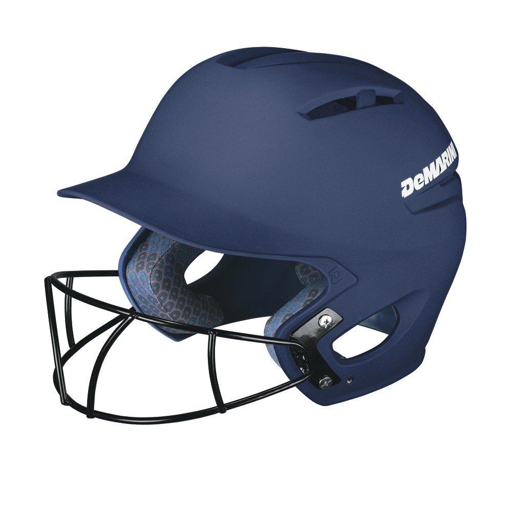 DeMarini Paradox Batting Helmet with Softball Protective Mask, Navy, Small/Medium by DeMarini
