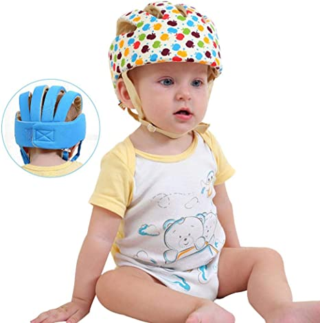 Fewao Baby Safety Helmet Toddler Protection Hat Infant Walking Crawling Head Protective Cap Adjustable Baby Head Protection Hat