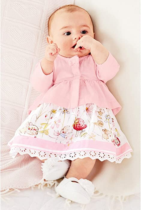 f86a7ba1aa9c FERENYI Baby Girl s Clothes Long-Sleeved Jacket with Floral Dress ...