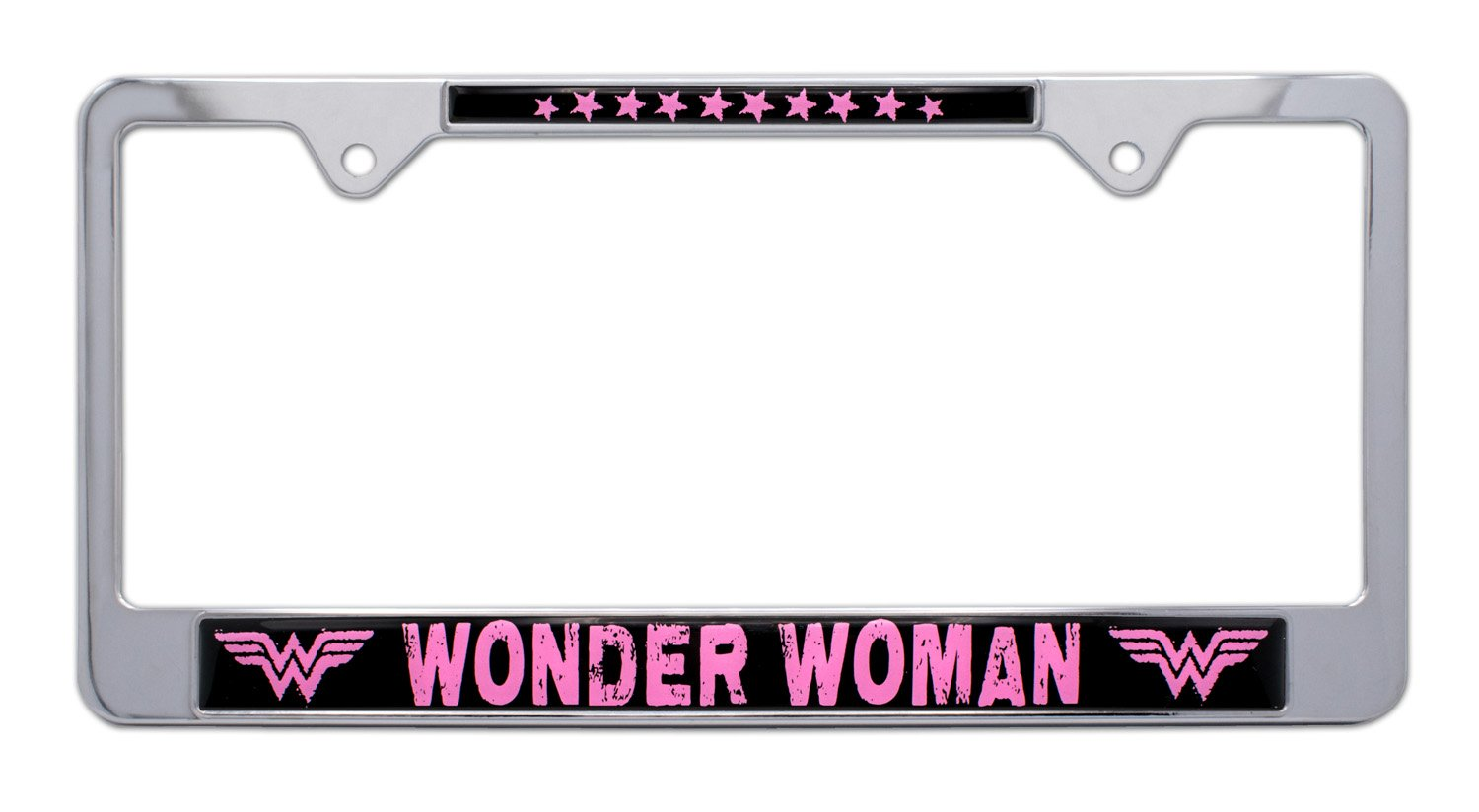 Open Version Elektroplate Wonder Woman Blue and Red Metal License Plate Frame