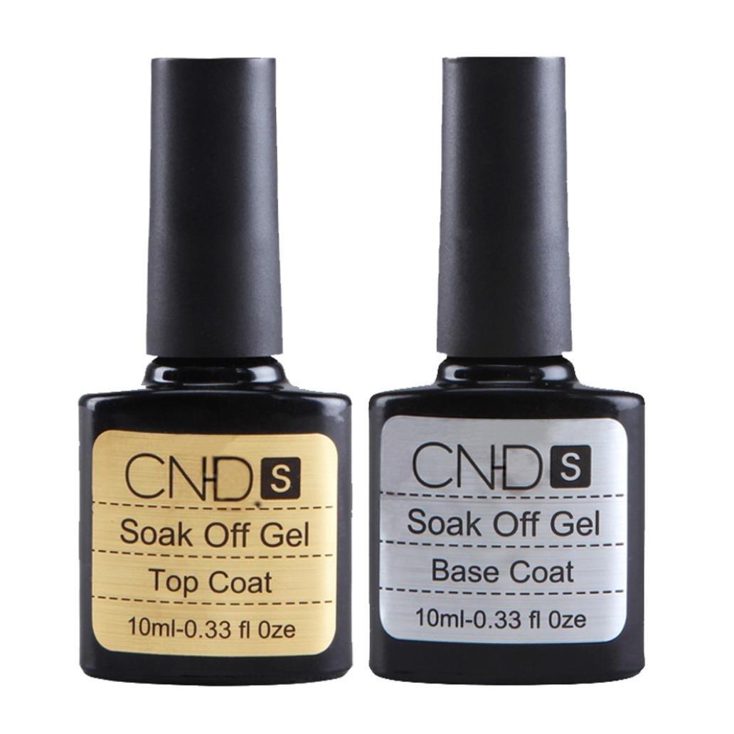 Vovotrade ❃❃2 pièces Top coat + Base coat Uv Gel Vernis à ongles Primer Nail Art CNHIDS