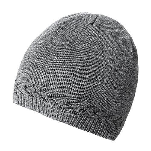 bf4a5742b7aada OMECHY Mens Winter Warm Knitting Hats Plain Skull Beanie Cuff Toboggan Knit  Cap 4 Colors