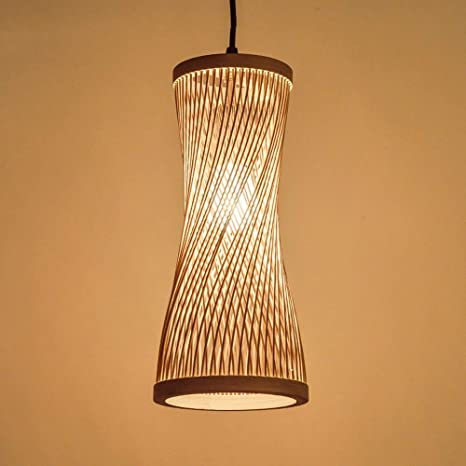 33.5cm Moddeny Rattan Suspension Light Bamboo Wicker Shade Antique Ceiling Hanging Lamp Rustic Farmhouse Wooden Lamp Dining Living Room Pendant Lantern E27 15