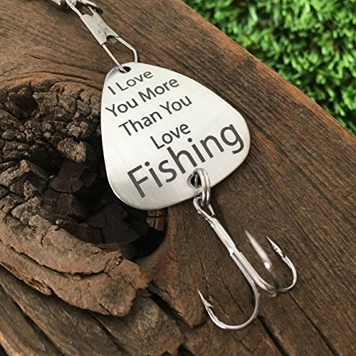 I Love You More Than Fishing Lure Guy Gift For Him Birthday