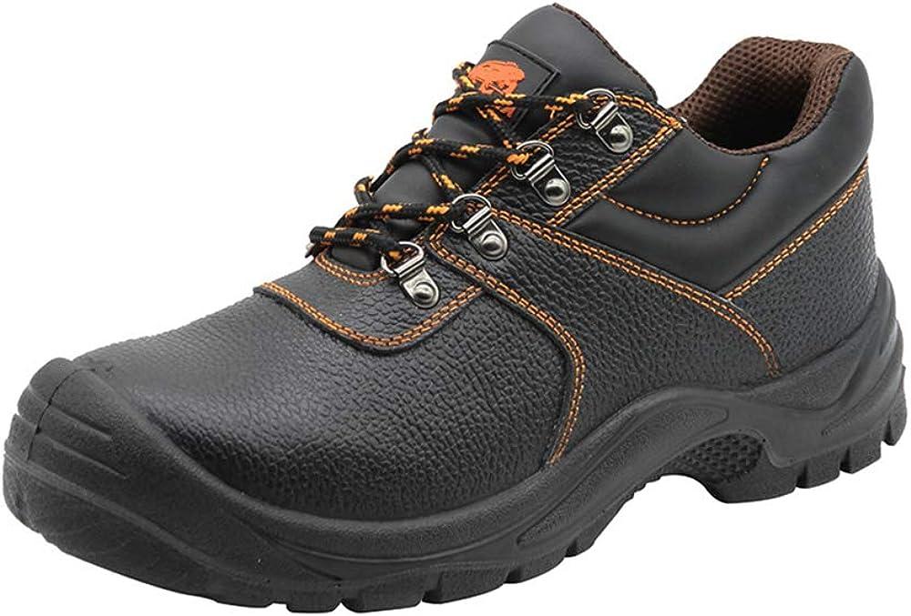 Zapatos de Seguridad para Hombres Botas de Trabajo con Punta de Acero Zapatos de Trabajo Impermeables Antideslizantes Botas de Seguridad para construcción al Aire Libre