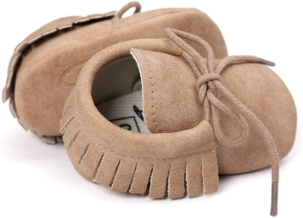 Baby Loafers Boys Girls Infant Shoes Soft Sole Tassels Moccasins Anti-Slip Crib Shoes