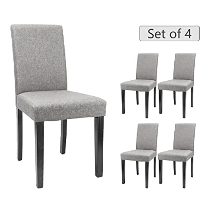 Beau Furmax Dining Chairs Urban Style Fabric Parson Chair Kitchen Livng Room  Armless Side Chair With Solid