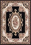 Well Woven Miami Medallion Centre Black Traditional Area Rug 3'3″ X 5'3″ For Sale