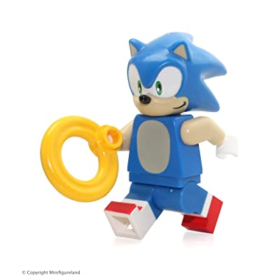 LEGO Sega Dimensions Minifigure - Sonic the Hedgehog with Ring (71244): Toys & Games [5Bkhe1804831]