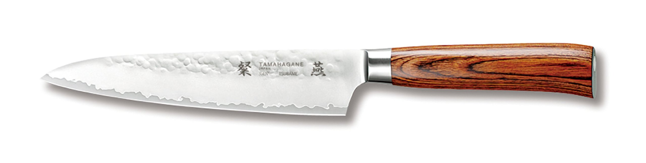 Tamahagane San Tsubame Wood SNH-1108 - 5 inch, 120mm Utility Knife