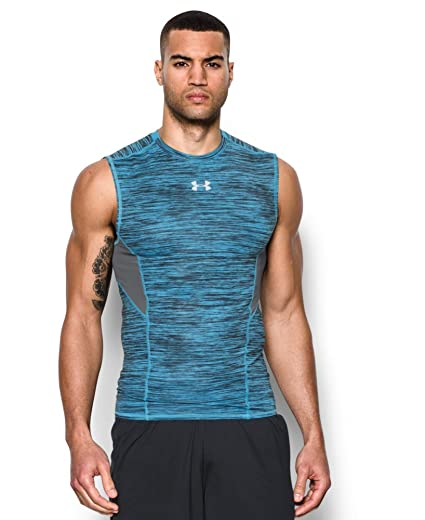 b9af83f76e90c Amazon.com  Under Armour Men s CoolSwitch Sleeveless Compression ...