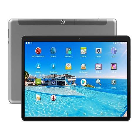 Tablet de 10.1 Pulgadas Full HD(10 Core,Deca-Core,6 GB de RAM, 64GB de Memoria Interna,Android 8.0,1920X1200,5+13MP Camera,4G LTE Dual SIM Negro