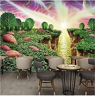 zhimu Personalizza Murale 3D Fai da Te Bella Dipinta a Mano Dolce vegetale Creativo Ristorante Frutta Fresco Soggiorno Wallpaper-60cmx60cm