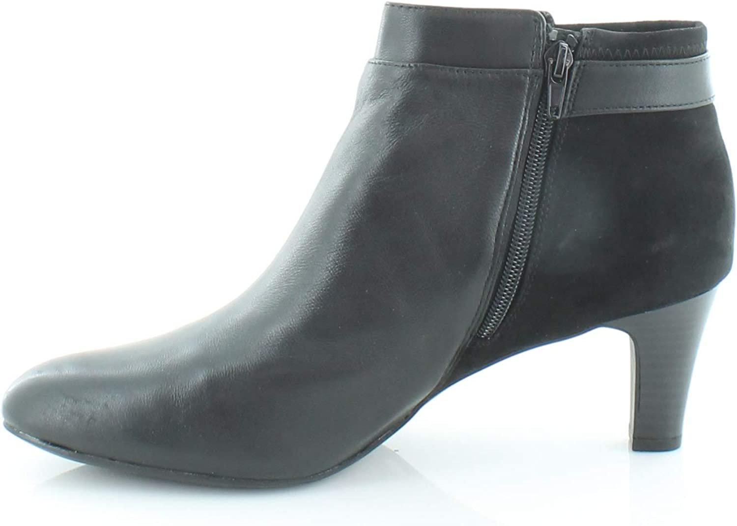 Black Leather Size 12.0 Alfani Womens Viollet Suede Suede Closed Toe Ankle