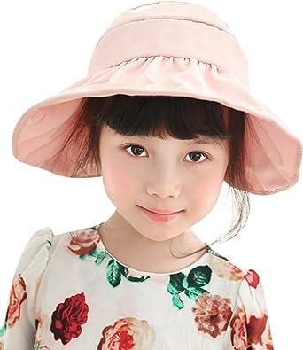 Fairy Wings Little Girls Kids Foldable Wide Brim Sun Protection Visor Cap