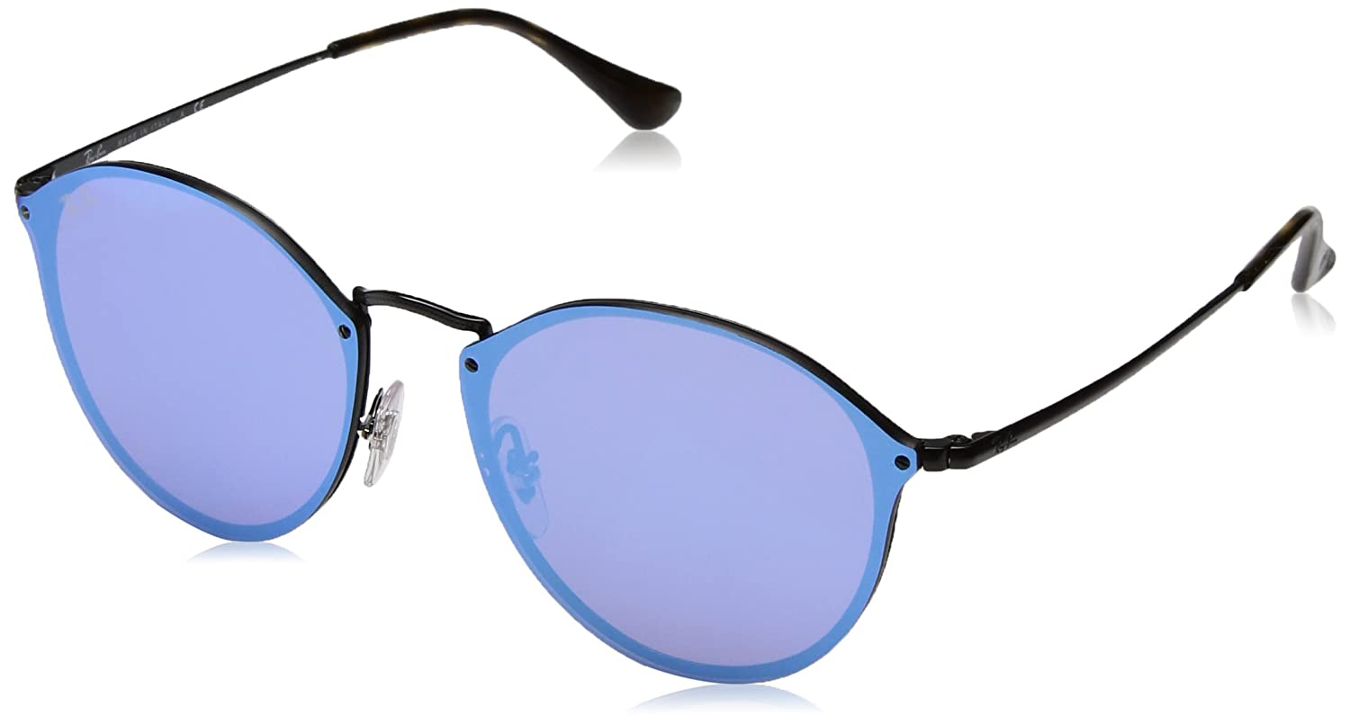 c616a963b35 Ray-Ban Mirrored Phantos Unisex Sunglasses - (0RB3574N153/7V59|58|Dark  Violet Mirror Blue Color): Amazon.in: Clothing & Accessories