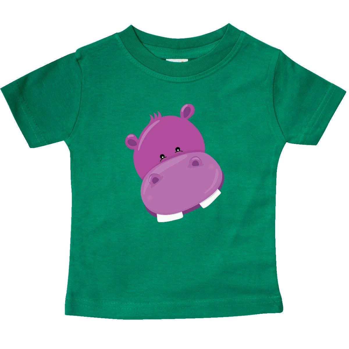 inktastic Cute Purple Hippo Head Baby T-Shirt