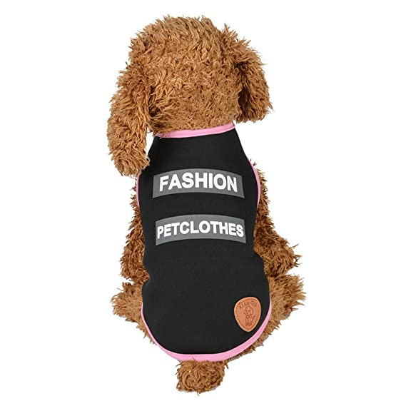 Ropa para Mascotas,Dragon868 Moda Mascotas Ropa Letra Impresa Lindas Camisas para Perros de Mascota: Amazon.es: Ropa y accesorios