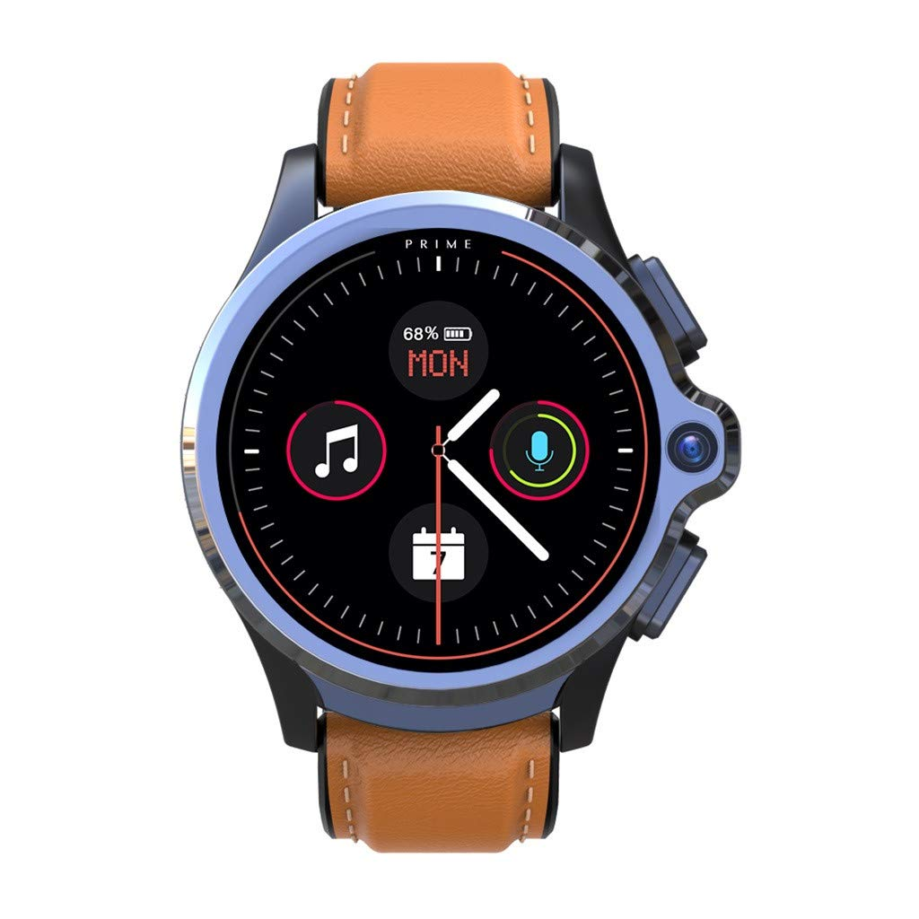 Yuege for KOSPET Prime 4G/LTE Smart Watch Android7.1.1 Phone 1.6 inch IPS Full Face ID Unlock Dual Cameras IP67 Waterproof 1260mAh Battery Life 3GB RAM 32GB ROM Memory GPS Heart Rate Monitor