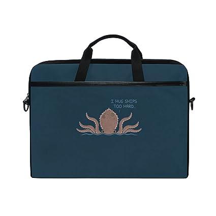 b910a47bb6d6 Amazon.com: Laptop Case, Funny Octopus, Laptop Shoulder Messenger ...