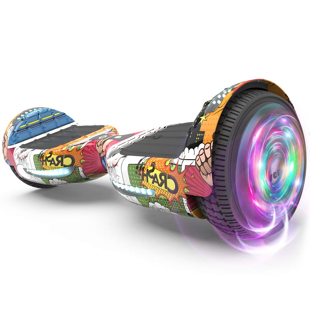 HOVER HEART Hoverboard Certified HS2.0 Flash Wheel with Bluetooth Speaker LED Light Self Balancing Wheel Electric Scooter