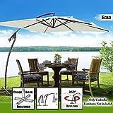 BenefitUSA U007-250X-ECR Patio Umbrella Outdoor, Garden,Cantilever, Ecru For Sale