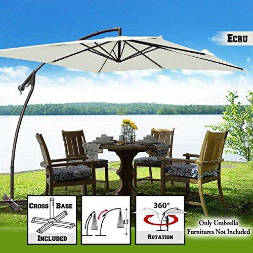 Best Benefitusa Patio Umbrellas - BenefitUSA U007-250X-ECR Patio-Umbrella, Outdoor, Garden,Cantilever,