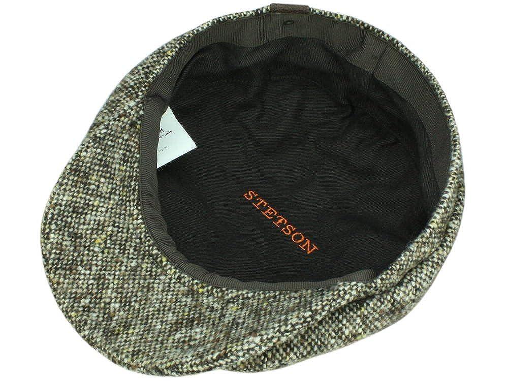 Stetson Hatteras Donegal Tweed Ballonmütze aus Schurwolle - hellbraun   Amazon.de  Bekleidung 161079fb46ef