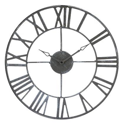 53505f6ae18d Reloj de pared de metal estilo vintage - diámetro 40 cm.  Amazon.es ...