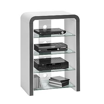 meuble tv avec verre dimensions 90 x 60 x 40 cm