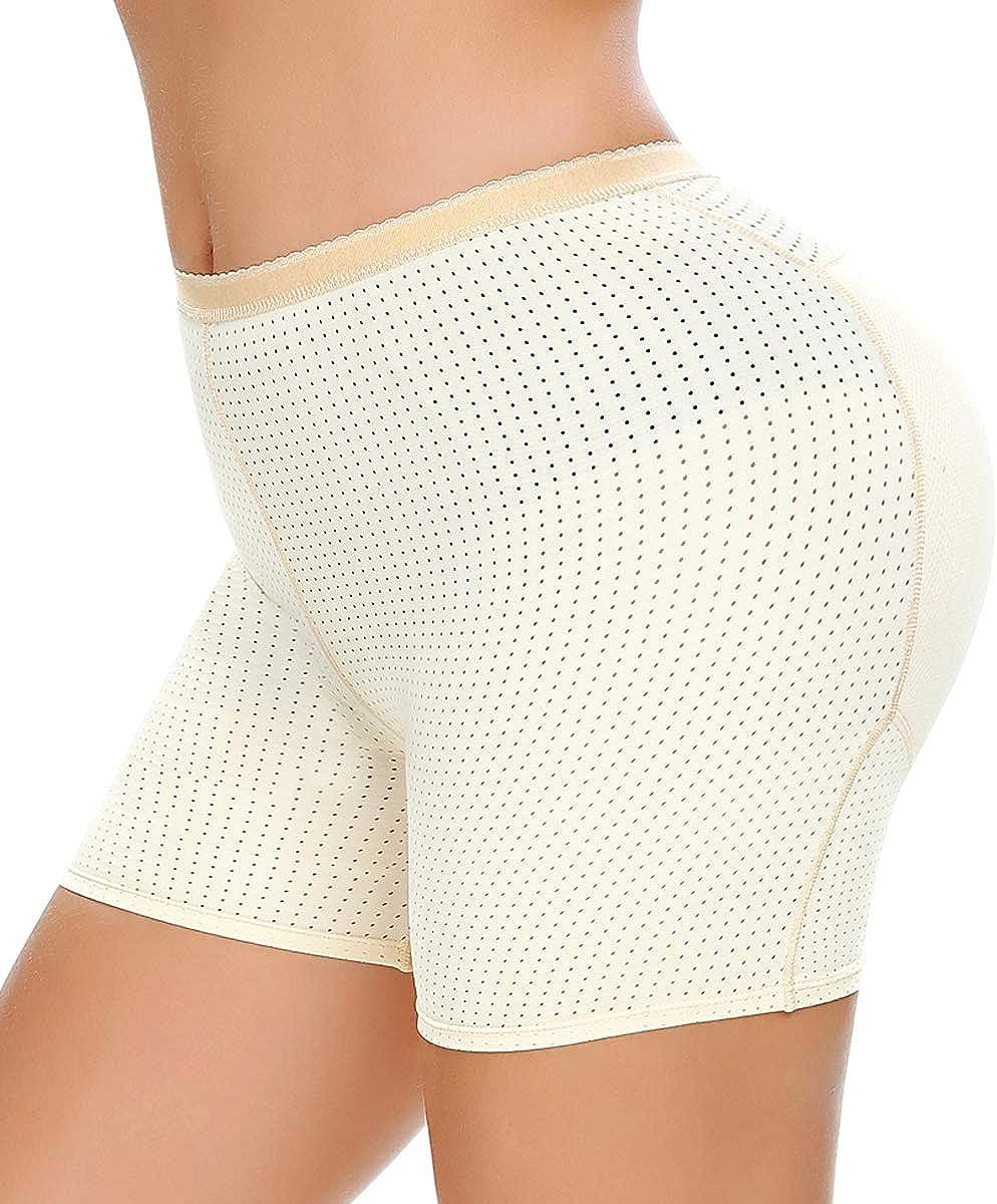 NINGMI Womens Butt Lifter Seamless Hip Enhancer Underwear Booty Pads Shaper Boyshorts