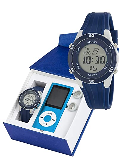 Conjunto Reloj Digital Marea Niño B35322/2 con Reproductor MP4: Amazon.es: Relojes