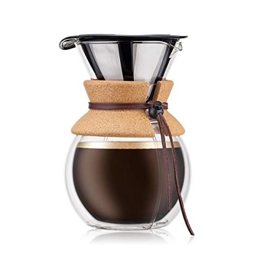 Bodum - 11736-109S - Pour Over - Cafetera Pared Doble 8 Tazas ...