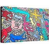 Quadro Keith Haring art. 11 cm 70x100 intelaiato pronto da appendere Stampa su tela Canvas Il Negozio di Alex