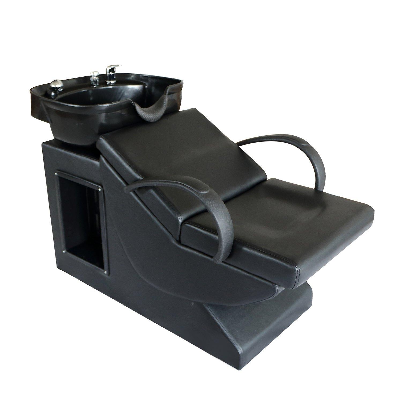 Sliverylack Backwash Salon Shampoo Barber Chair Sink Beauty Spa Equipment (Black1)