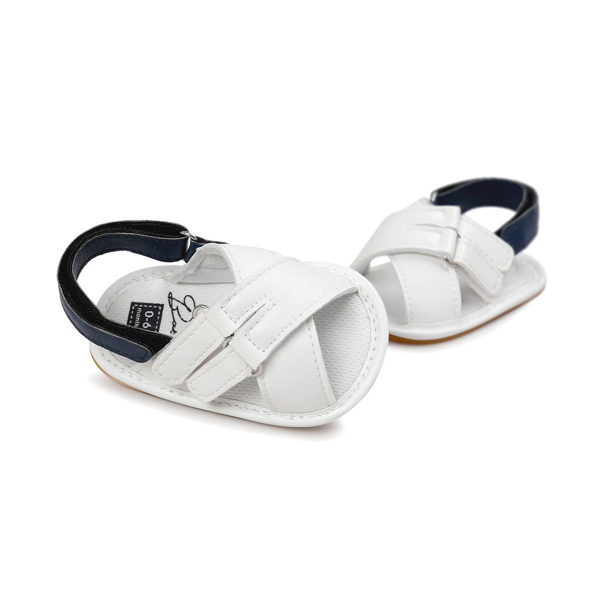 QGAKAGO Baby Girls Boys PU Leather Open Toe Rubber Sole Infant Toddler Summer Sandals Shoes