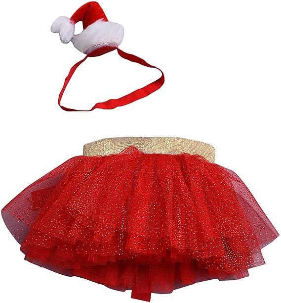 Baohooya Vestido Navideño Bebe Niñas - Niños Disfraz Elfo Falda de ...