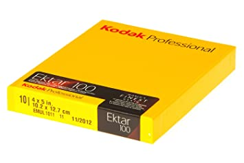 Kodak 158 7484 Professional Ektar Color Negative Film ISO 100 4 x 5 Inches 10 Sheets (Yellow) Accessories at amazon